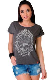 Camiseta Wevans Apache Skull Chumbo