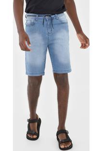 Bermuda Jeans Hang Loose Reta Clear Azul - Azul - Masculino - Dafiti