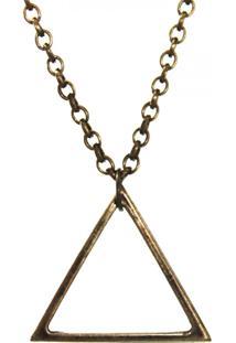 Colar Klauk Triângulo Ouro Velho