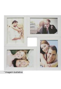 Kapos Painel Para 4 Fotos Branco 29,5X29,5X6Cm
