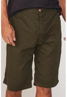 Bermuda Hd Plus Size Walk Chino Masculino - Masculino-Verde