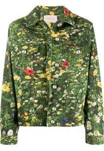 Christopher Kane Jaqueta Jeans London Fields - Verde