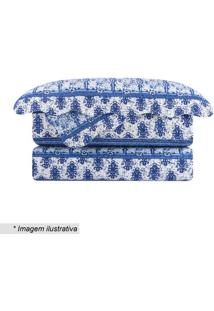 Conjunto De Colcha Evolution Patchwork Queen Size- Azul Camesa
