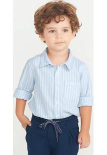 Camisa Bebê Menino Com Linho