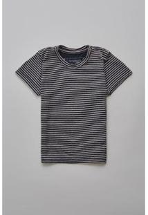 Camiseta Masculina Infantil Bb Linho Mar Reserva Mini - Masculino-Preto