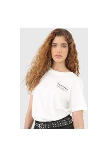 Camiseta Colcci Gracias Branca
