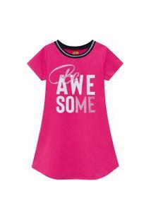Vestido Infantil Menina Kyly Pink