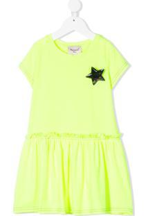 Mariuccia Milano Kids Vestido Com Broche De Estrela - Amarelo