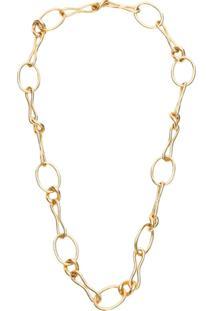 Jw Anderson Irregular Chain Necklace - Dourado
