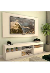 Rack Com Painel Para Tv Atã© 65 Polegadas E 2 Portas Toronto Multimã³Veis Branco - Incolor - Dafiti