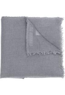 Rick Owens Cachecol Longo Drapeado - Azul