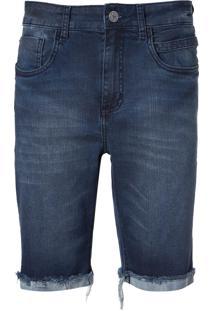 Bermuda John John Clássica Kempe Jeans Azul Masculina (Jeans Medio, 46)