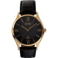 341e9c10227 Relógio Hugo Boss Masculino Couro Preto - 1513554