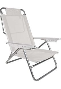 Cadeira Reclinável Summer Branca Mor