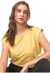 Camiseta Colcci Bolso Amarela