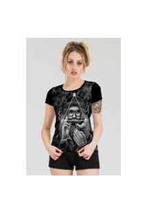 Camiseta Stompy Estampada Feminina Modelo 1 Preta