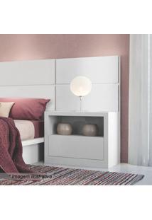 Criado Mudo Com Compartimento- Branco Brilho- 58X67Xdalla Costa