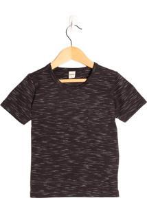 Camiseta Infantil Rovitex Menino Preto - 1