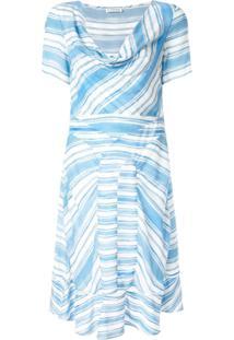 Altuzarra Lucia Stripe Cowl Dress - Azul