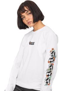 Camiseta Vans Jeferspin Branca - Branco - Feminino - Dafiti