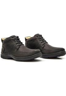 Bota Sollu Couro Soft Oil New Absolut Masculina - Masculino-Preto