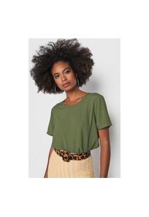 Camiseta Colcci Recorte Verde