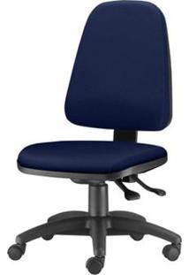 Cadeira Sky Presidente Com Bracos Assento Crepe Azul Escuro Base Nylon Arcada - 54805 - Sun House