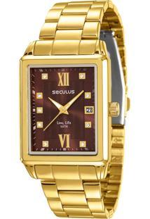 Gargantilha Pedra Onix Com Brilhantes, 45 Cm Em Ouro Amarelo - Gg14508