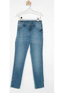 Calça Jeans Infantil Express Skinny Leleca Feminina - Feminino