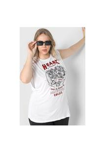 Camiseta Colcci Heart Branca