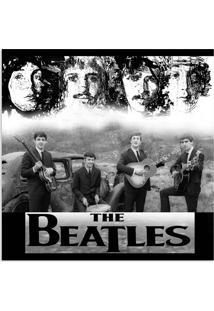 Quadro Beatles Uniart Preto & Branco 45X45Cm