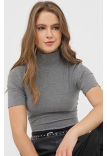 Camiseta Triton Canelada Cinza