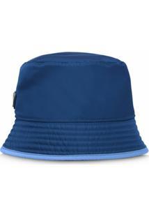 Prada Chapéu Dupla Face - Azul