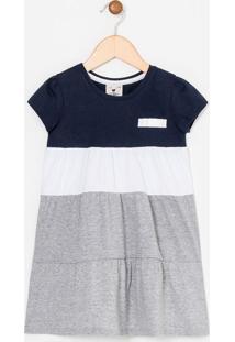 Vestido Infantil Liso - Tam 1 A 4 Anos
