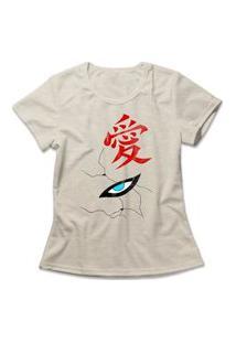 Camiseta Feminina Gaara Bege