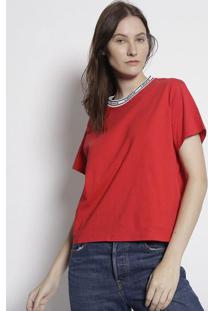 Camiseta Levi'Sâ® - Vermelha & Brancalevis
