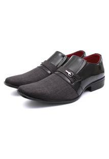 Sapato Social Leve Renovally Chumbo