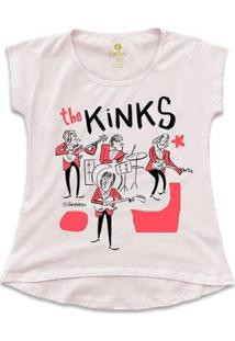 Camiseta T-Shirt Rock Cool Tees Caco Galhardo Banda The Kinks Feminina - Feminino