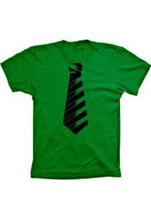 Camiseta Baby Look Lu Geek Gravata Social Verde