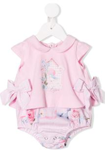 Lapin House Body Com Estampa Floral - Rosa