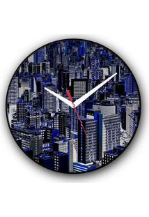 Relógio De Parede Colours Creative Photo Decor Decorativo, Criativo E Diferente - Vista Aérea De Prédios Em São Paulo