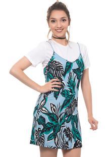 Vestido Maria Escandalosa Slip Dress Estampado Azul