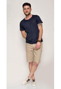 Bermuda Jeans Express Romulo Caqui - Masculino-Marrom