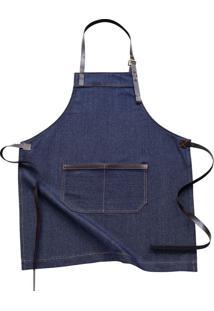 Avental De Algodão Jeans Indigo Azul 85X70Cm - 27497