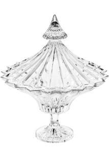 Bomboniere De Cristal Com Tampa E Com Pé Ballet 29Cm - Unissex