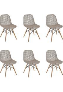 Kit 6 Cadeiras Decorativas Sala E Cozinha Haney (Pp) Gran Belo - - Dafiti