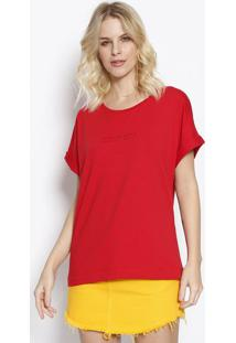 "Camiseta ""Fashion Basic""- Vermelha & Preta- Colccicolcci"