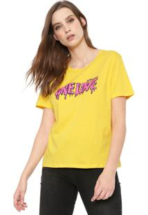 Camiseta Cavalera One Love Amarela