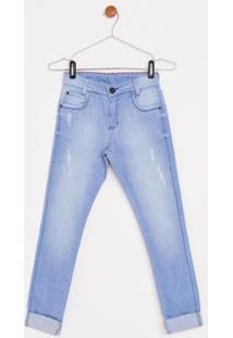 Calça Jeans Express Infantil Nicolas - Masculino-Azul