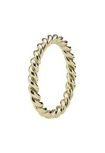 Anel Twist- Dourado- Tamanho 56 = 16- Pandorapandora